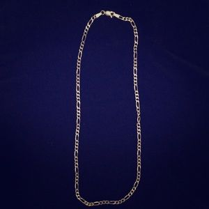 """Sterling Silver 16"""" Figaro Necklace"""